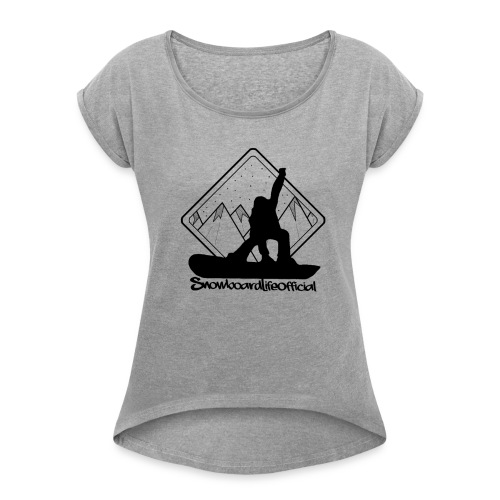 snowboardlife - Maglietta da donna con risvolti