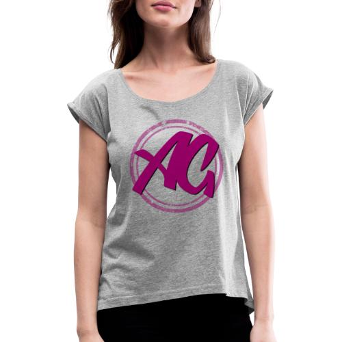 Affinity Gamer Logo - Purple - Women's T-Shirt with rolled up sleeves