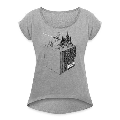 RadioCube - Frauen T-Shirt mit gerollten Ärmeln
