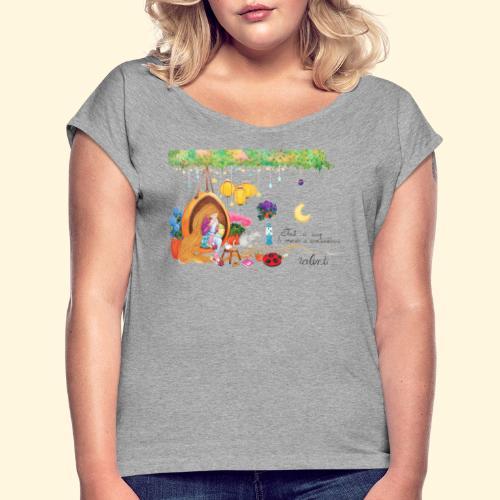 Tout à coup, le temps a considérablement ralenti - T-shirt à manches retroussées Femme