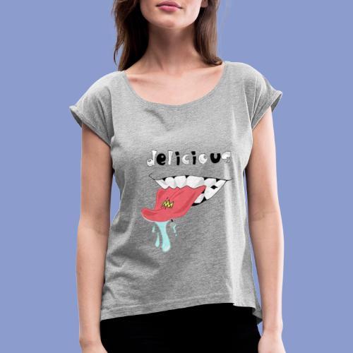 DELICIOUS - Maglietta da donna con risvolti