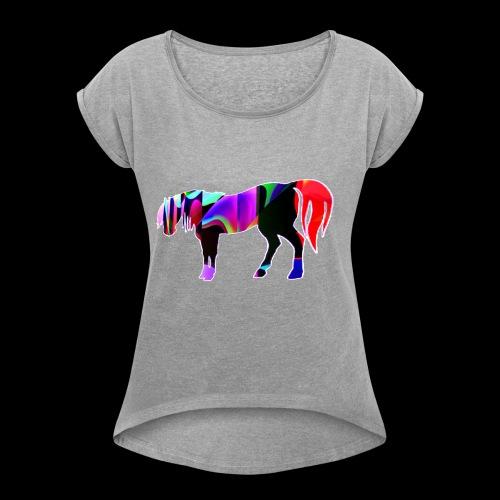 Cavalo triste - T-shirt à manches retroussées Femme