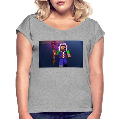 Timon der Magier - Frauen T-Shirt mit gerollten Ärmeln
