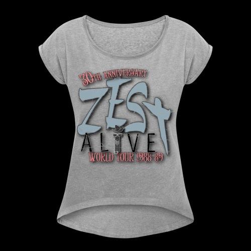 Zestshirt - T-shirt med upprullade ärmar dam