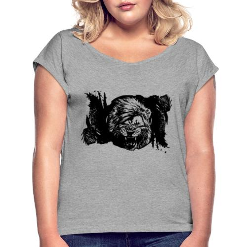 Raven & lion - T-shirt à manches retroussées Femme