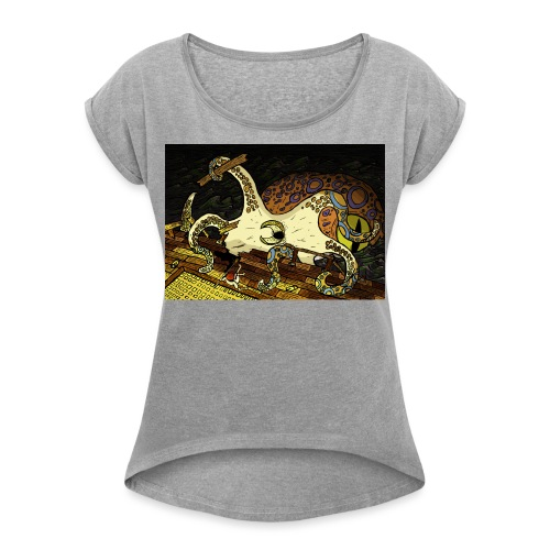 be the octopus - Women's T-Shirt with rolled up sleeves