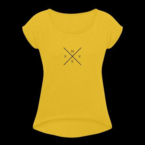 NEXX cross - Vrouwen T-shirt met opgerolde mouwen