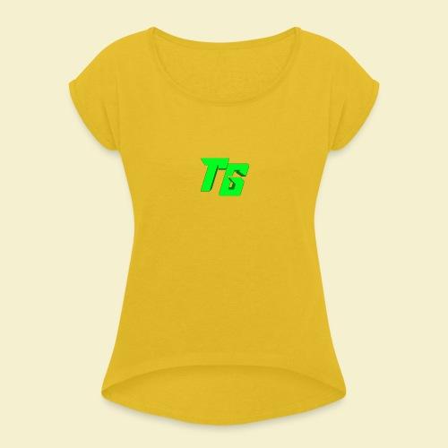 TristanGames logo merchandise - Vrouwen T-shirt met opgerolde mouwen