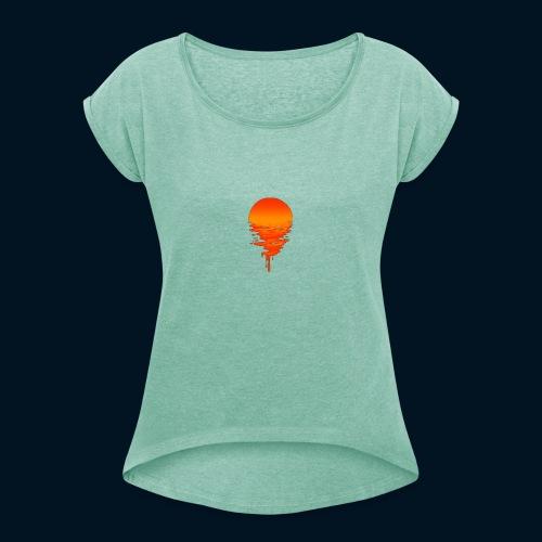 Weltuntergang - Maglietta da donna con risvolti