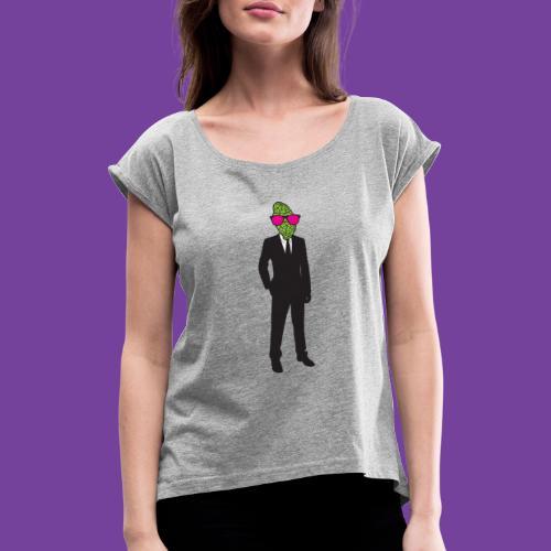 brainman - Dame T-shirt med rulleærmer