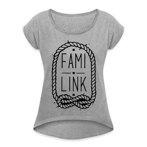 logo familink tout pret - T-shirt à manches retroussées Femme
