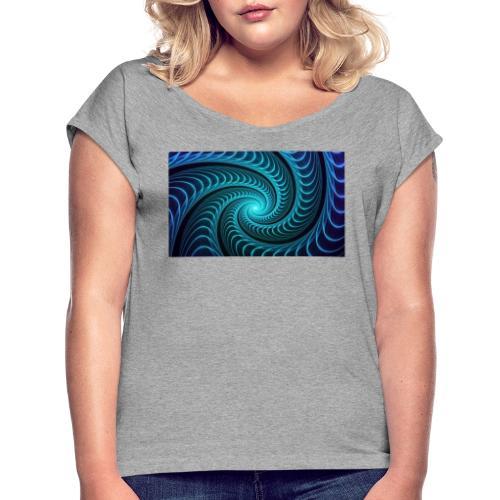 Spiraali - Naisten T-paita, jossa rullatut hihat