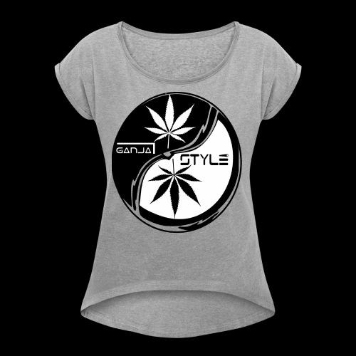 yin yang 2 - Frauen T-Shirt mit gerollten Ärmeln