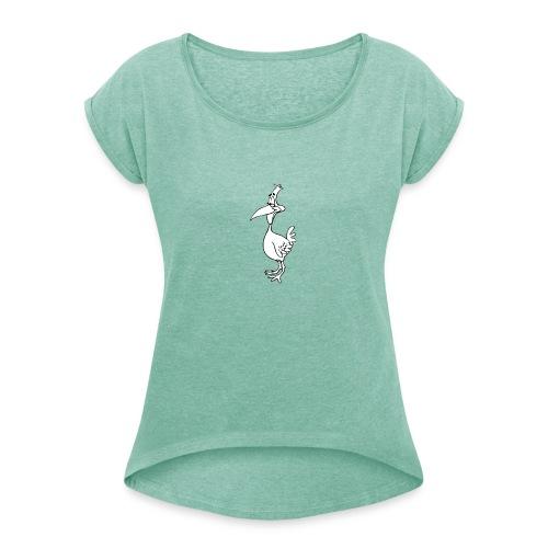 Vogel Design - Frauen T-Shirt mit gerollten Ärmeln