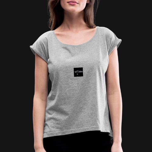 keyzen - Camiseta con manga enrollada mujer