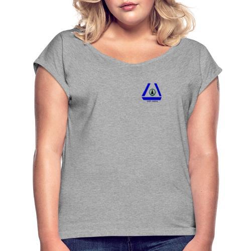 SCIFI Gaming Logo - Frauen T-Shirt mit gerollten Ärmeln