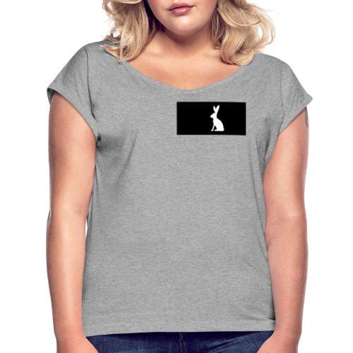 k - Dame T-shirt med rulleærmer