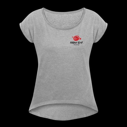 RBM - T-shirt med upprullade ärmar dam