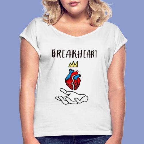 BREAKHEARTH - Maglietta da donna con risvolti