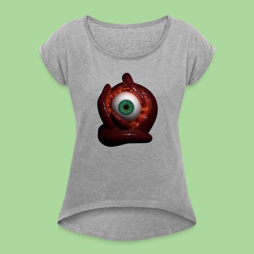 Takoyaki - Naisten T-paita, jossa rullatut hihat