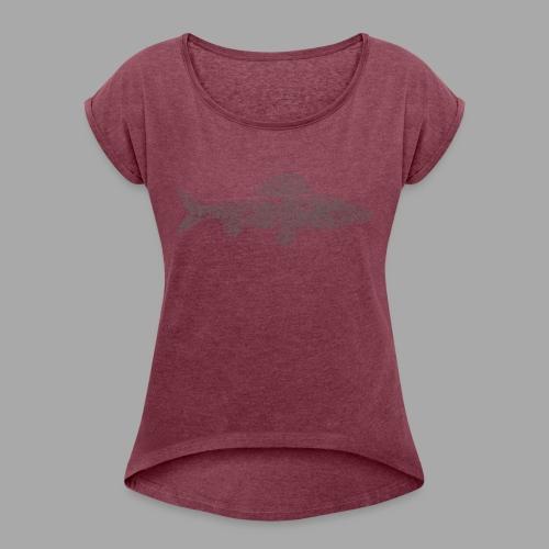 grayling - Naisten T-paita, jossa rullatut hihat