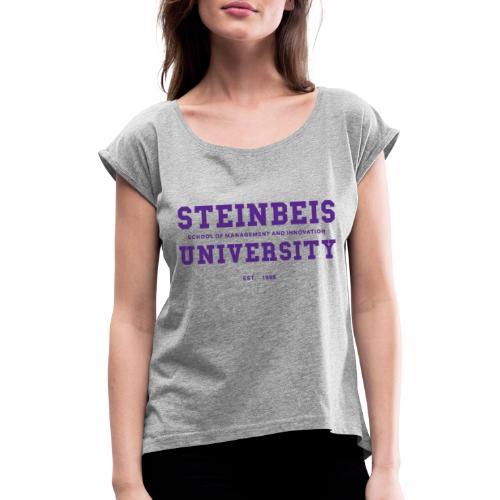 COLLEGE - Frauen T-Shirt mit gerollten Ärmeln