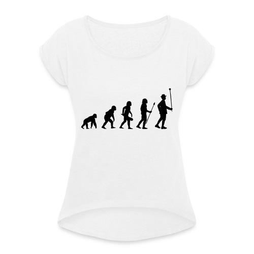 Stabführer Evolution - Frauen T-Shirt mit gerollten Ärmeln
