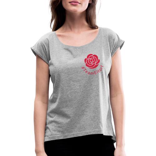 #TeamEitorf 1C - Frauen T-Shirt mit gerollten Ärmeln