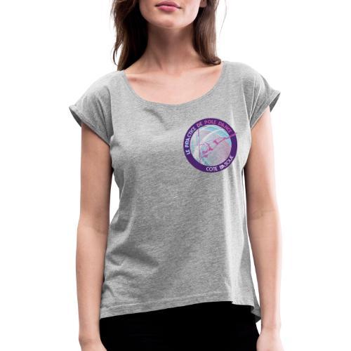 Logo poledance violet - T-shirt à manches retroussées Femme