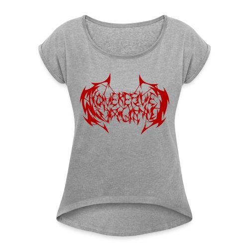 ARV Logo rosso - Maglietta da donna con risvolti