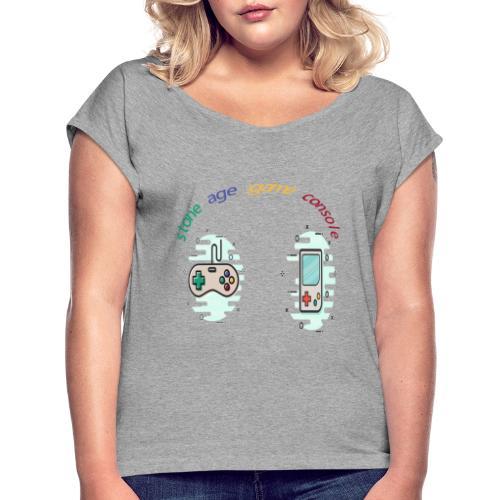 Retro Gaming Tribute - Frauen T-Shirt mit gerollten Ärmeln