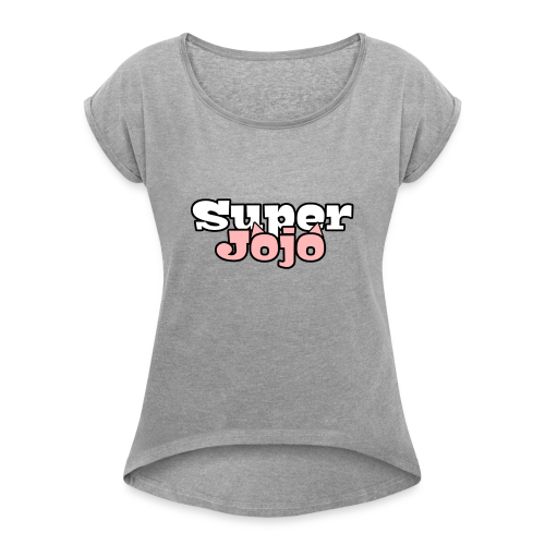 SuperJojo - Women's T-Shirt with rolled up sleeves