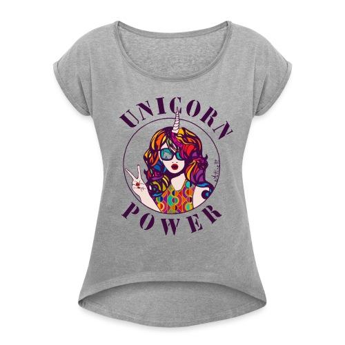 UNICORN POWER - T-shirt à manches retroussées Femme
