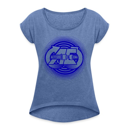 Altitude Era Circle Logo - Women's T-Shirt with rolled up sleeves