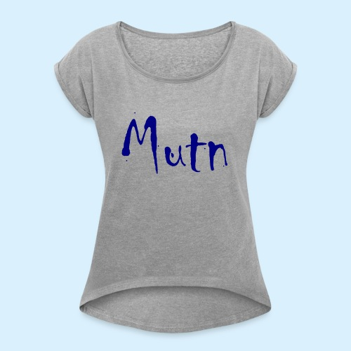 Mutn - Vrouwen T-shirt met opgerolde mouwen