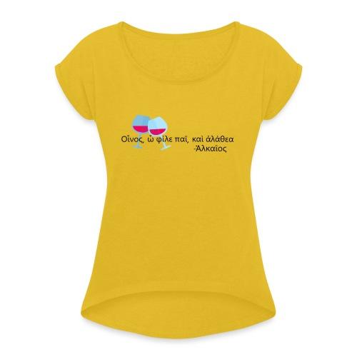 Alceo - Maglietta da donna con risvolti