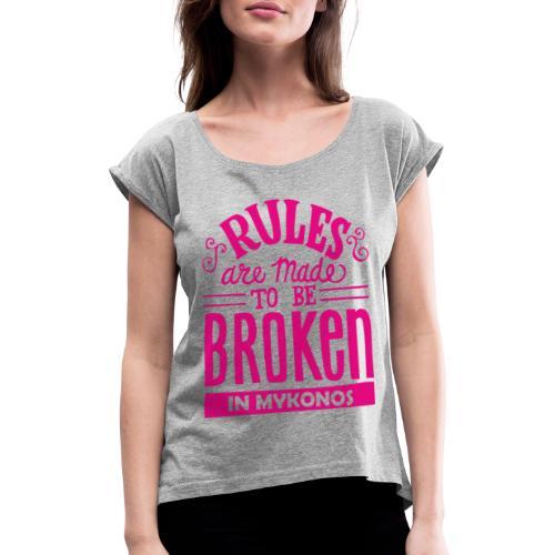Mykonos Rules - T-shirt à manches retroussées Femme