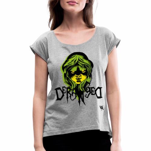 DerangeD - Tattoo Metal Horror Vampire - Dame T-shirt med rulleærmer