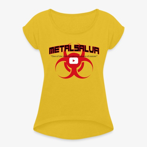 METALSALVA Cancer #1 - Maglietta da donna con risvolti