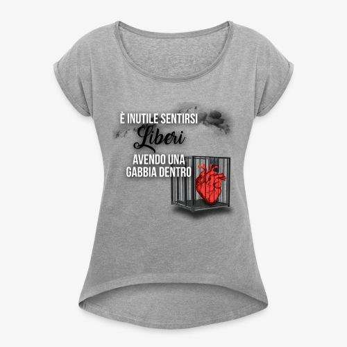 Rap Art ITA BRAND - Maglietta da donna con risvolti