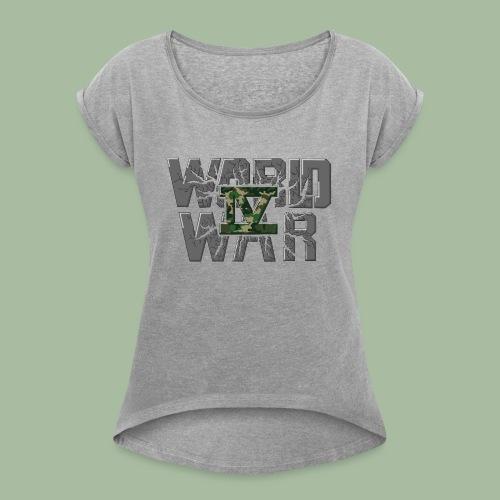 World War 4 - T-shirt à manches retroussées Femme