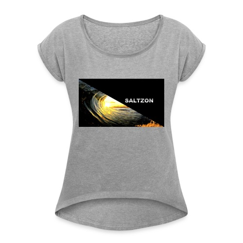 saltzon - Women's T-Shirt with rolled up sleeves