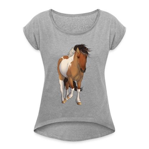 Rudi Pon. - T-skjorte med rulleermer for kvinner