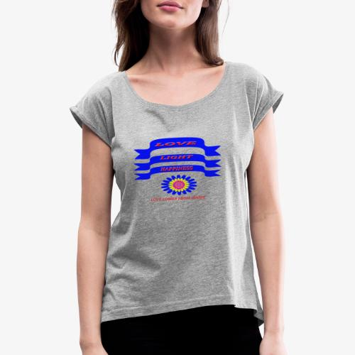 HAPPY - Women's T-Shirt with rolled up sleeves