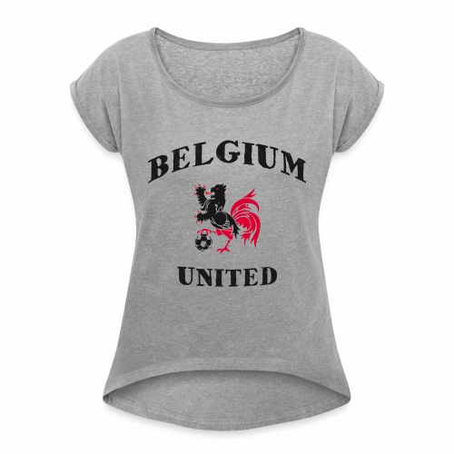Belgium Unit - Women's T-Shirt with rolled up sleeves