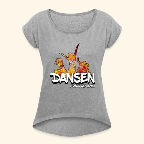 Dansen Mosaik - T-shirt med upprullade ärmar dam