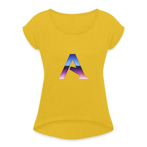 logga 3 - T-shirt med upprullade ärmar dam