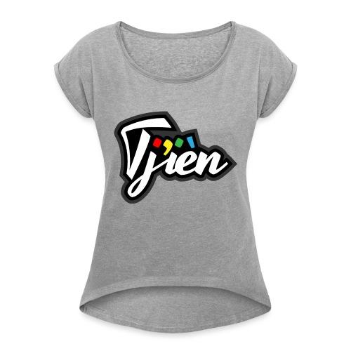 Tjien Logo Design - Vrouwen T-shirt met opgerolde mouwen
