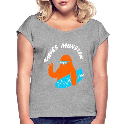 Waves Monster - T-shirt à manches retroussées Femme