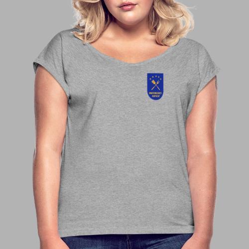 EU Bratenschutz-Aufsicht Dienstabzeichen blau - Frauen T-Shirt mit gerollten Ärmeln